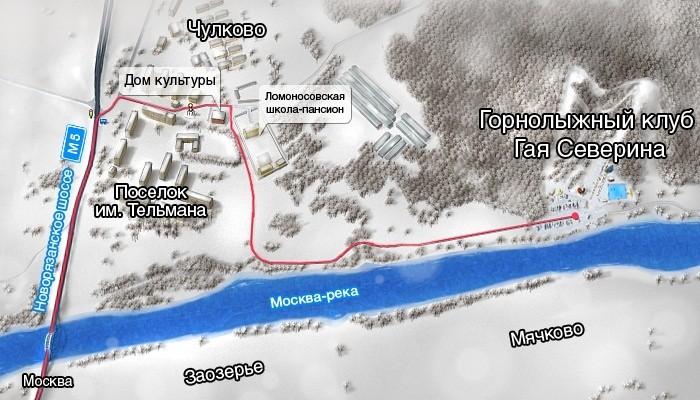 Схема проезда до Чулково