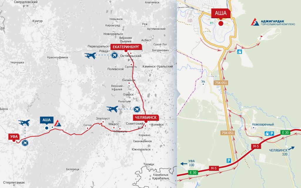 Карта проезда Аджигардак
