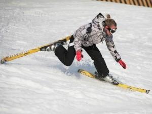 Равновесие и падения на горных лыжах