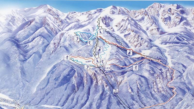 Схема трасс на горнолыжном курорте Бохинь