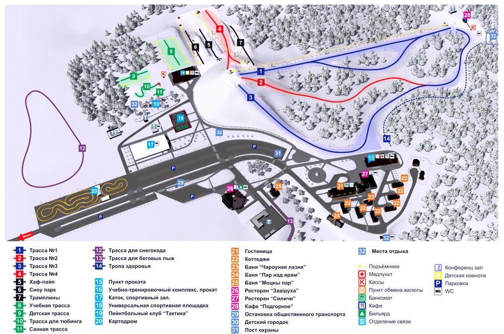 Схема трасс Силичи