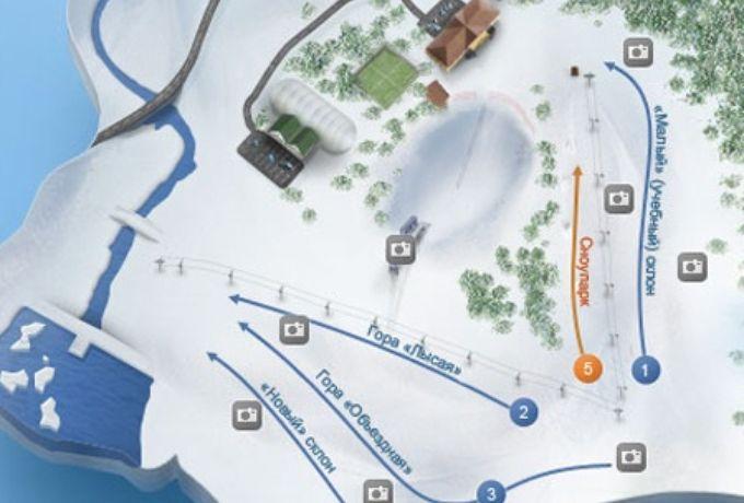 Схема трасс ГЛК Уктус