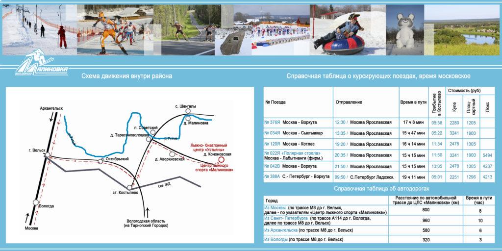 Схема как добраться до горнолыжного центра «Малиновка»