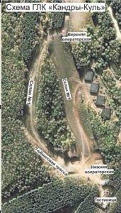 Схема трасс горнолыжного курорта Кандрыкуль