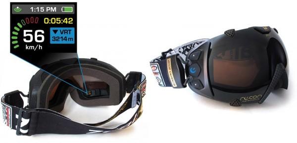 Горнолыжные очки с модулем GPS