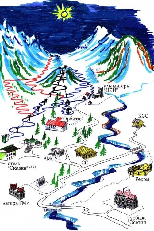 Карта горнолыжного курорта Цей