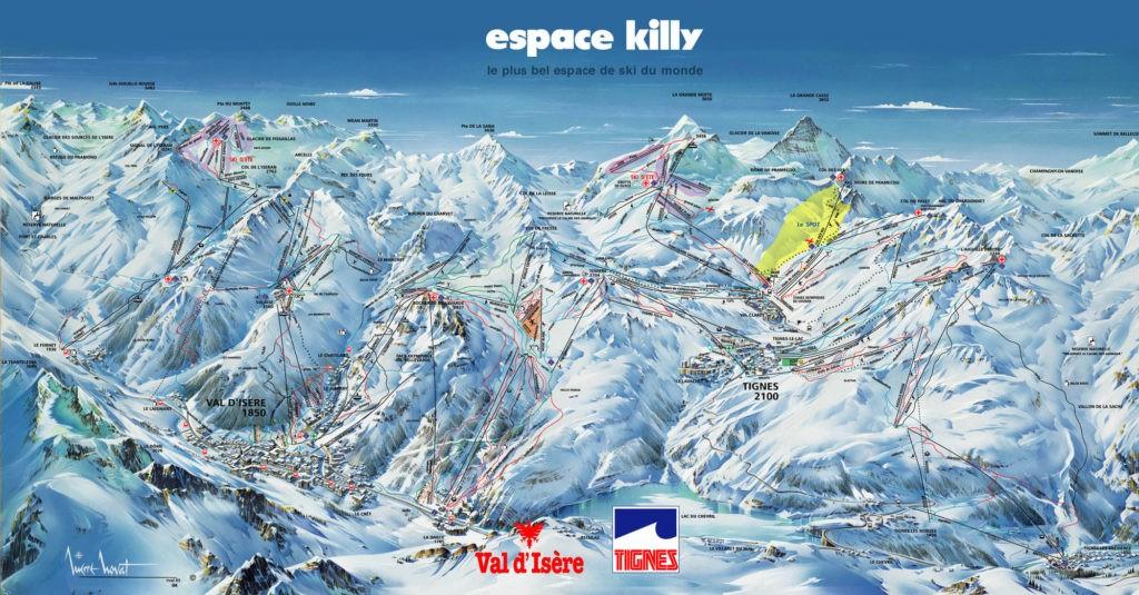 Схема трасс горнолыжного курорта Тинь