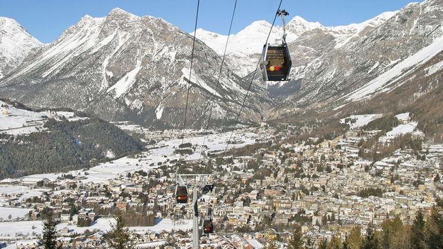 Трассы и подъемники на горнолыжном курорте Бормио в Италии
