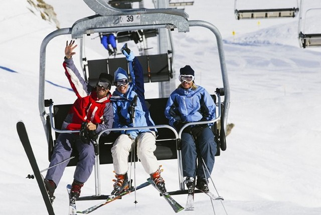 Трассы иподъемники на горнолыжном курорте Шпиндлерув Млын