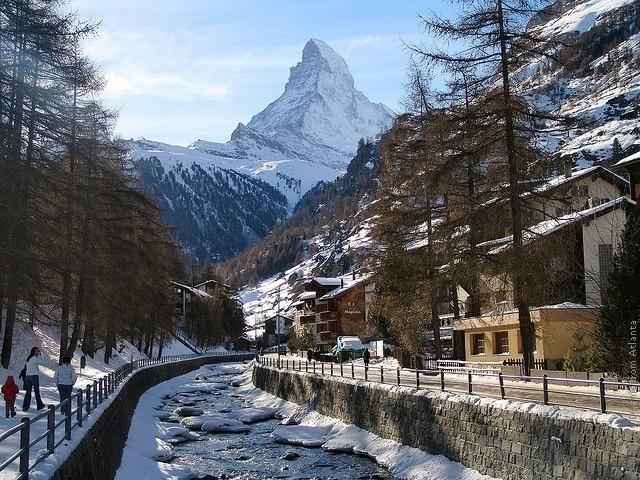 Город Церматт в Швейцарии