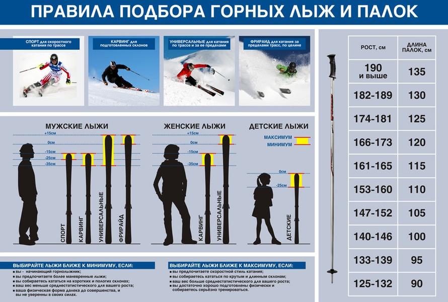 Как выбрать горные лыжи для детей