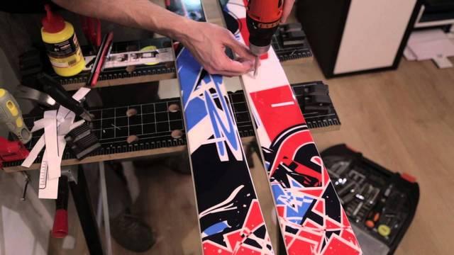 Инструменты для установки креплений на горные лыжи