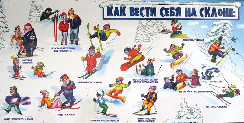Правила катания на горных лыжах