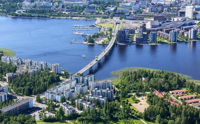 Город Ювяскюля в Финляндии