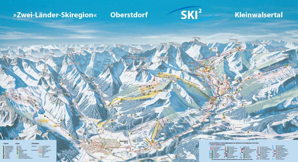 Схема трасс горнолыжного курорта Оберстдорф