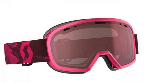 Горнолыжная маска розовая