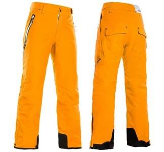 Желтые горнолыжные штаны с защитными вставками