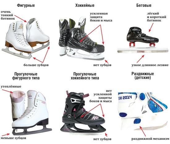 Чем хоккейные коньки отличаются отфигурных