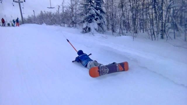 Правила подъема на бугеле на сноуборде