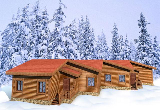 """Отель """"Снеготель"""" в Новососедово на горнолыжном курорте"""