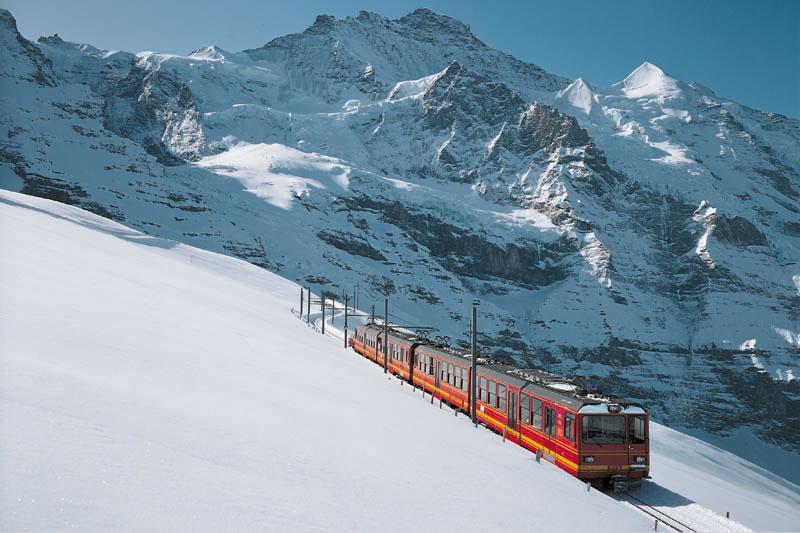 Вершина Юнгфрау в Гриндельвальде, Швейцария