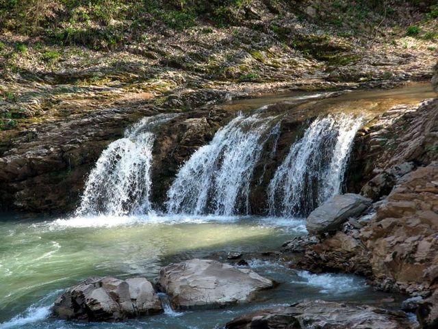 """Водопады Руфабго: водопад """"Три братца"""""""