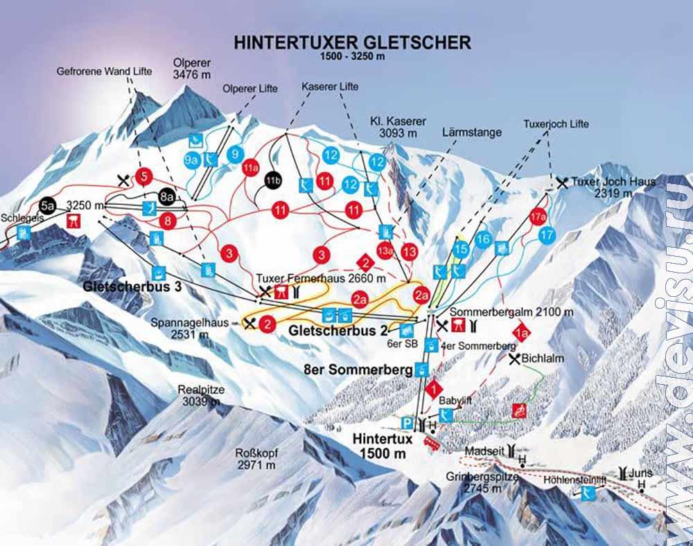 хинтертукс горнолыжный курорт