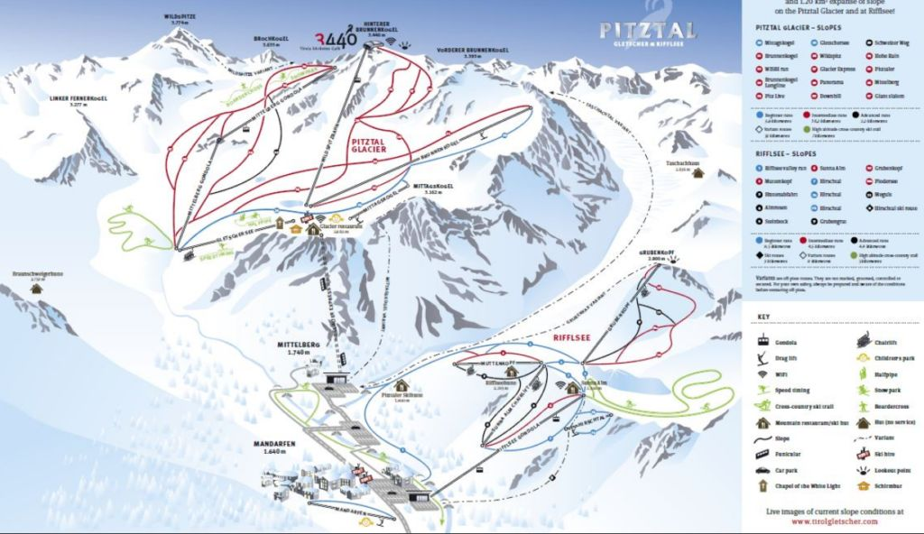горнолыжный курорт Питцталь